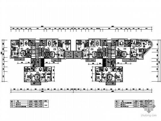 塔式高层一梯三户有花园户型图(116/146/148)