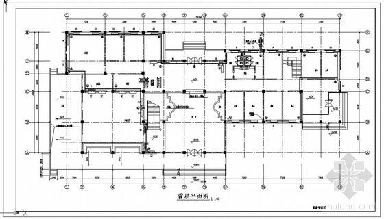 三层办公楼采暖平面图