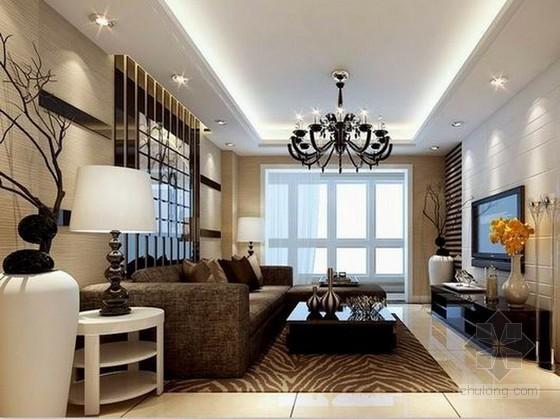 现代简约风格客厅3d模型下载