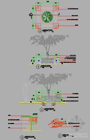 座凳树池详图-4