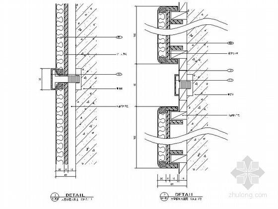 成套硬包墙面造型节点CAD图块下载