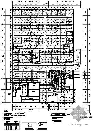 广东某二十三层酒店消防喷淋平面图