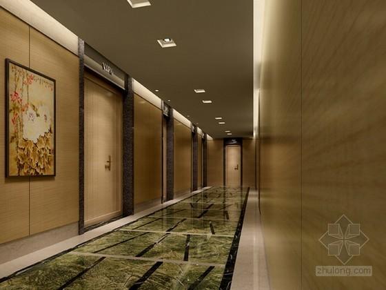 中式前厅过道3d模型下载