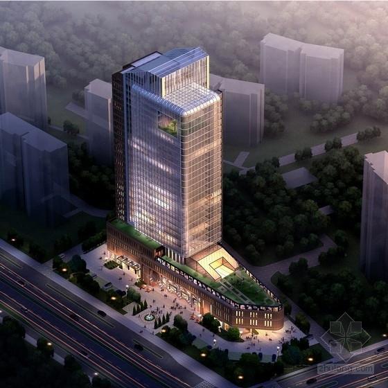[江苏]27层高层商业综合体建筑方案文本