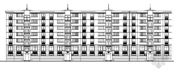 六层底商住楼建筑施工图