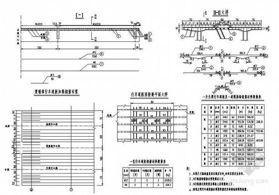 16mT梁主梁行车道板钢筋构造节点详图设计