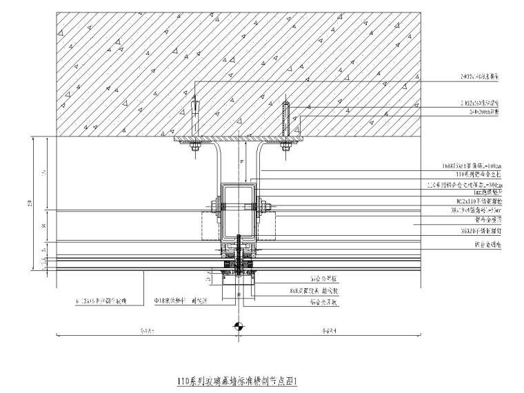 110系列玻璃幕墙标准图