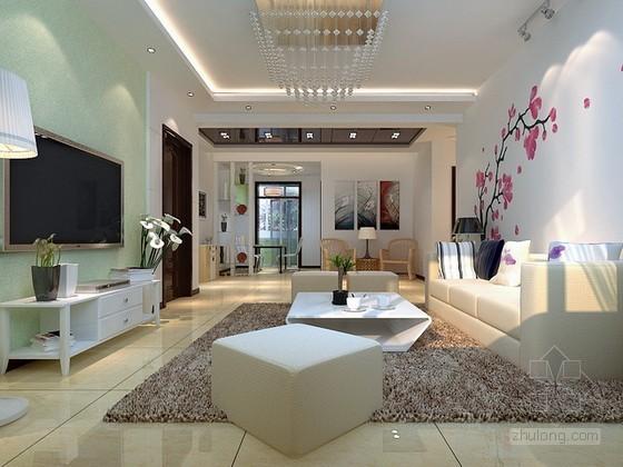 现代简约舒适风格客厅3d模型下载