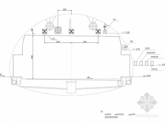 隧道监控设备断面布置图