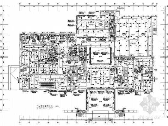 [西北区]5A级国宾馆空调通风设计施工图(知名设计院)