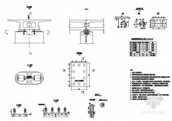 (32+32+32)m预应力混凝土双线连续梁成套cad设计图纸