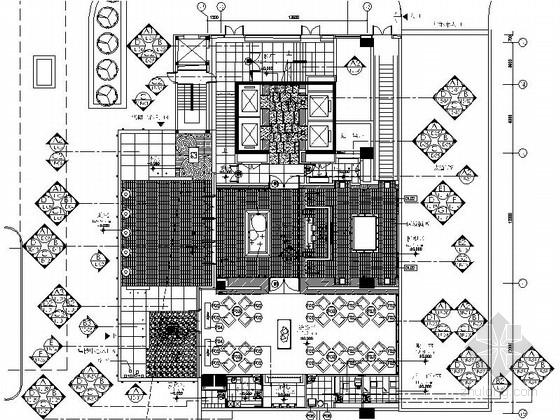 [北京]某高级住宅小区售楼处室内装修施工图(含效果)