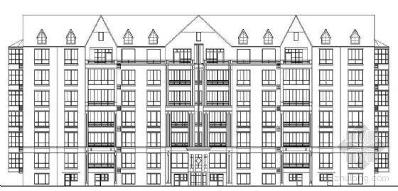 七层煤矸石烧结砖砌体住宅建筑施工图