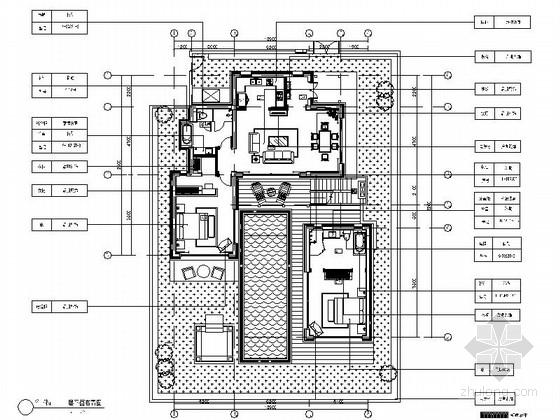 [海南]某度假区别墅B户型室内装修图