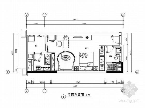 [广州]南湖某花园洋房A-1户型室内装修图(含选材表)