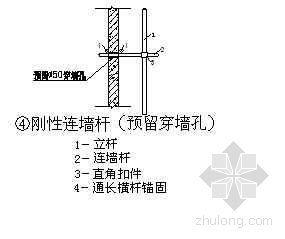 北京某公寓外脚手架施工节点(一)