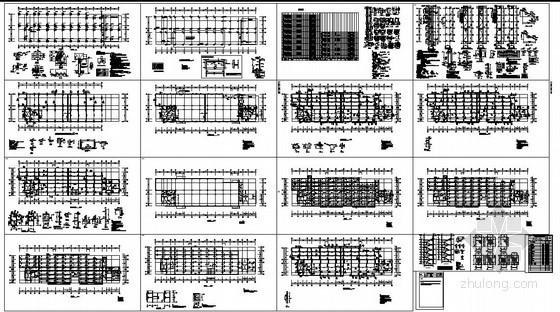 某机械工程训练中心框架结构设计图