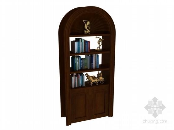 小型书柜3D模型下载