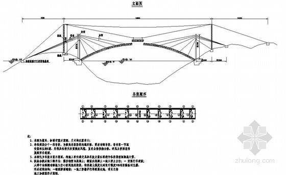 杭新景高速公路拱肋式大桥主桥施工方案节点详图设计