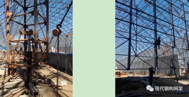 大跨度煤棚焊接球网架液压顶升施工技术_18