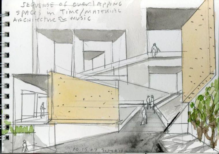 斯蒂文·霍尔在中国的首个作品展,向我们摊开了他个人的手绘本_35