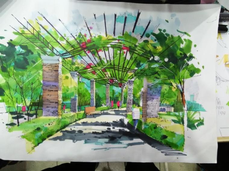 延安市西北川公园设计,红飘带广场_5