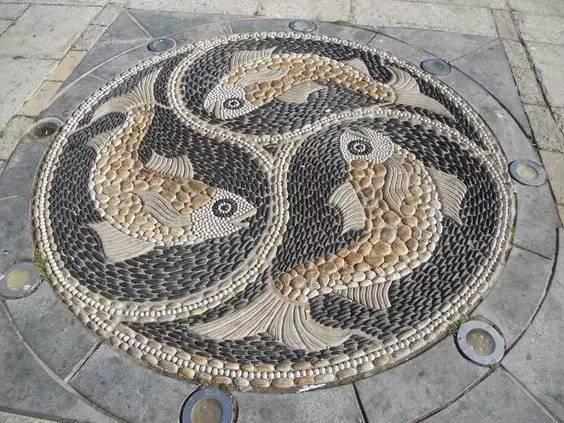 100张鹅卵石铺装设计
