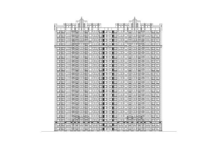 [江苏]苏州欧陆风格居住区建筑施工图设计(天华设计)