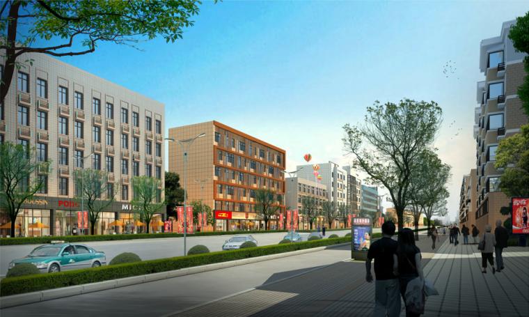 [安徽]现代风格芜湖利民路沿街立面改造方案文本