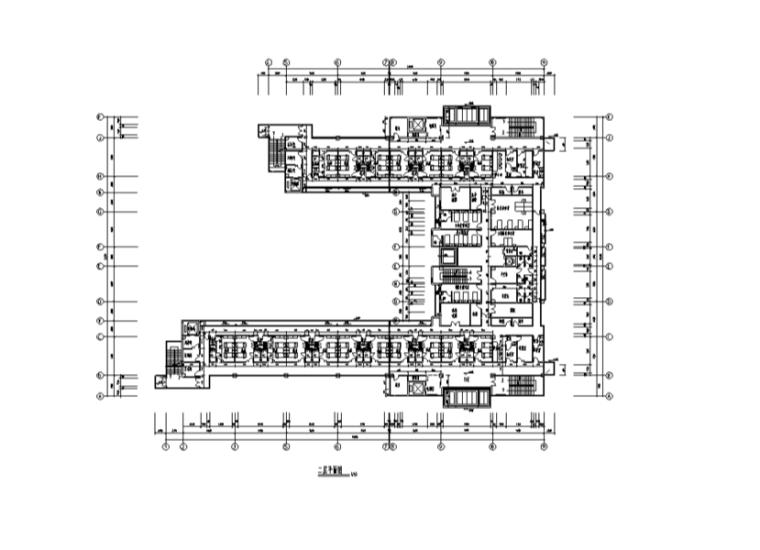 某医院室内设计装修全套施工图含总图(45张)