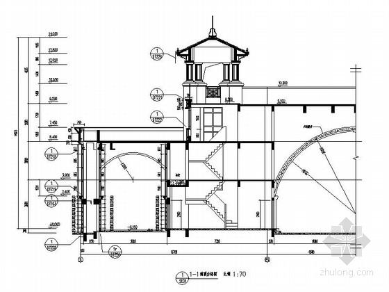 [合集]24套大门建筑施工图(学校、接待中心、公司大门、欧式)_32