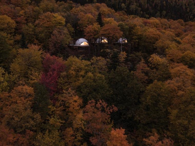 加拿大树林里的球状帐篷旅馆-2