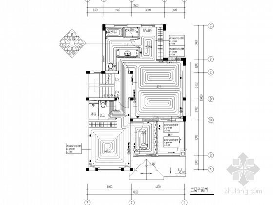 [上海]高档别墅暖通空调设计施工图(地源三联供,净水系统)