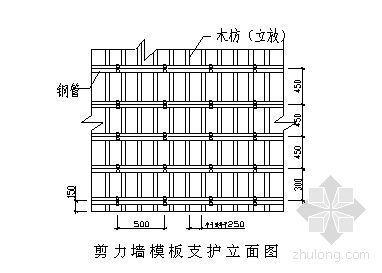 某高层住宅小区地下室结构施工方案