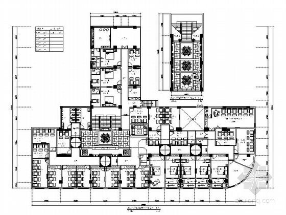 [江西]某时尚中式足道会馆室内装修施工图