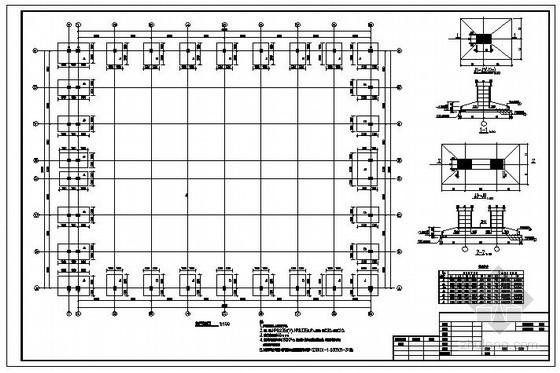 某钢桁架厂房结构设计图
