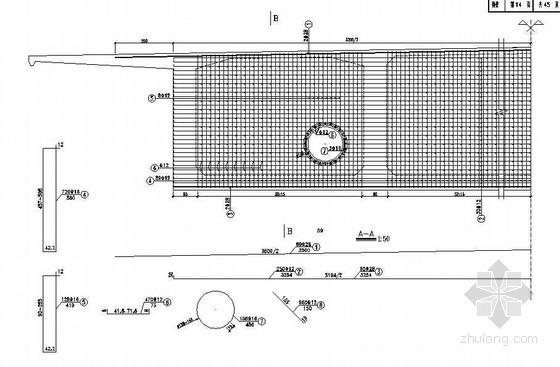 78+180+78m自锚式悬索桥主梁桥塔处横梁钢筋构造节点详图设计