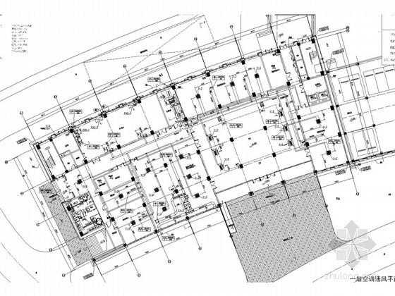 公共办公建筑空调通风及防排烟系统设计施工图(风冷热泵机组)