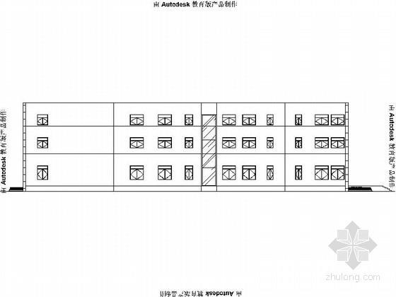 [广州]两层铝单板售楼部建筑设计方案图(含效果图)