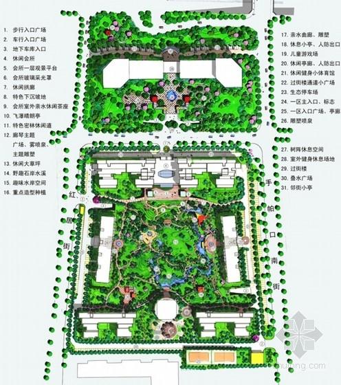 商住两用社区景观园林设计方案平面图