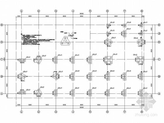 [岭南]六层L型框架结构水果深加工厂办公楼结构施工图