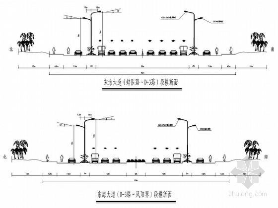 城市主干路双侧对称照明工程设计套图(29张)