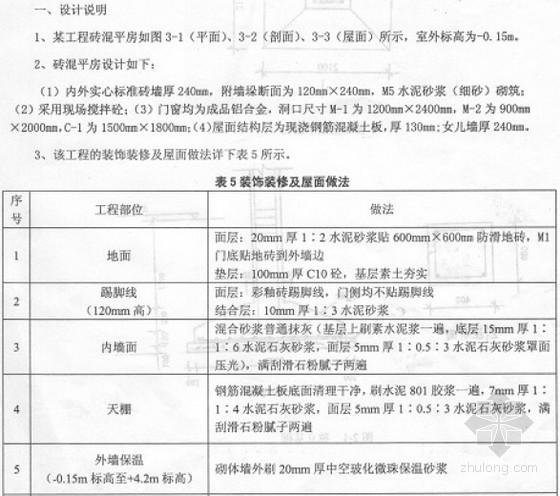 [四川]2013年土建造价员考试真题(案例分析)