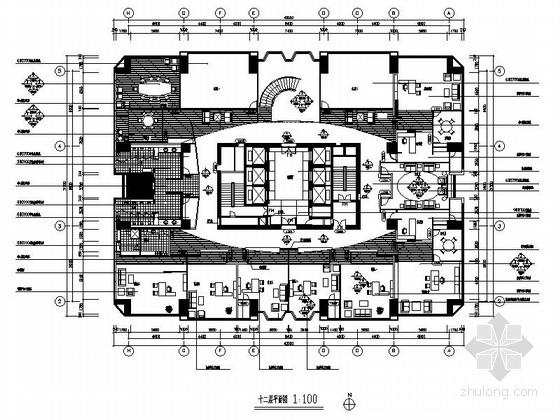 [浙江]著名大厦现代办公楼改建工程室内装修施工图