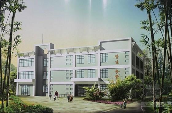 [湖南]中学食堂综合楼建筑工程招标文件(含预算及图纸)