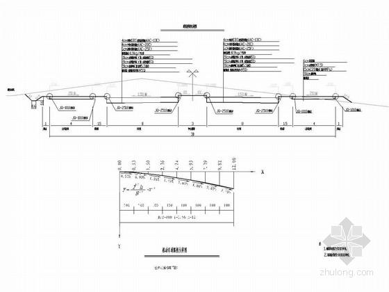 新城双向四车道市政道路施工图54张CAD(甲级院)