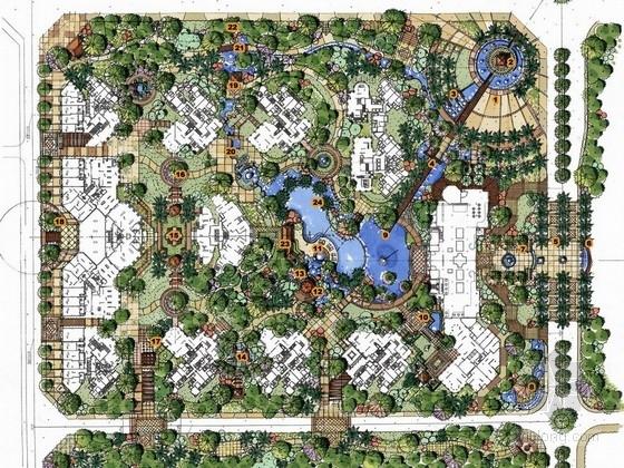 [成都]英伦风情居住区景观规划设计方案