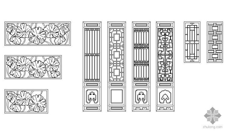 古建筑门窗图块8例_1