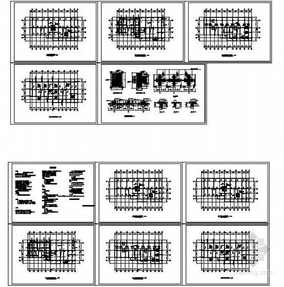 某框架结构碳纤维加固设计图