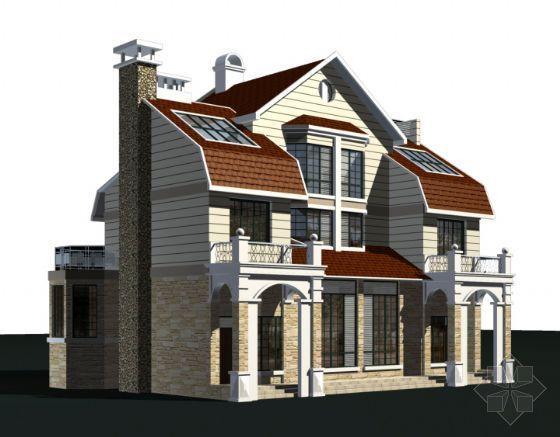 西式风格成套别墅建筑